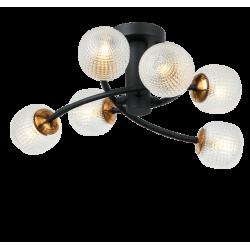 Ceiling Light Metallic With Glass 6x G9 IFIGENIA - Viokef