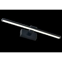 LED Απλίκα Μπάνιου Μεταλλική Σε Χρώμιο Και Μαύρο Χρώμα 59,5cm 12W JASPER Viokef