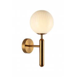 Wall Light Golden With Glasses 1x G9 5W JOLIN - VIOKEF