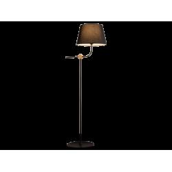 Φωτιστικό Δαπέδου Με Μαύρο Υφασμάτινο Καπέλο 150cm 1x E27 60W max LARGO - Viokef