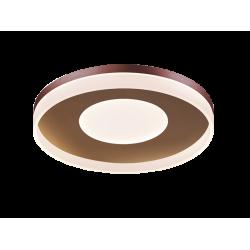 LED Πλαφονιέρα Μεταλλική Καφέ Στρογγυλή D40cm 42W MADLIN - Viokef