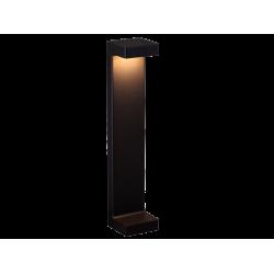 LED Garden Column In Black 50cm 9W 507Lm 3000K IP54 QAUDRO - Viokef