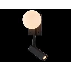 LED Απλίκα Ανάγνωσης Μαύρη 5W + 3W REFLECT - Viokef
