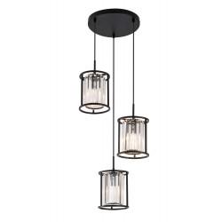 Pendant Multi Lights With Transparent Glass 3x E14 40W RONDA  - VIOKEF