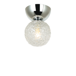 Ceiling Light Metallic With Glasses 1x G9 LED SYLIA VIOKEF