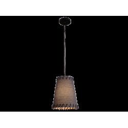 Κρεμαστό Φωτιστικό Μονόφωτο Με Μαύρο ή Μπεζ Καπέλο Ø26cm 1x E27 60W max TIMOR - Viokef