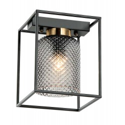 Ceiling Light Metallic And Engraved Glass 1x E27 ZAC VIOKEF