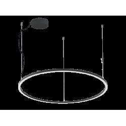 LED Round Pendant Lighting In Black Color Ø90cm 48W VERDI VIOKEF