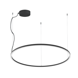 LED Round Pendant Lighting In Black Color Ø127cm 61W VERDI VIOKEF