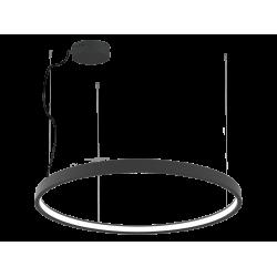 LED Round Pendant Lighting In Black Color Ø90cm 54W VERDI VIOKEF