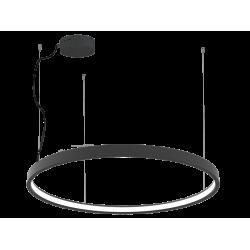 LED Round Pendant Lighting In Black Color Ø120cm 63W VERDI VIOKEF