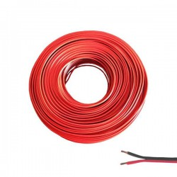 SPEAKER CABLE BLACK-RED 2X2.5MM