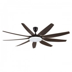 DECORATIVE FAN BLACK WITH LED LIGHT, 9 BLADES AND CONTROL Φ180 58W DC MOTOR