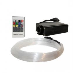 LED 16W Οπτική Ίνα KIT 0,75mm 25×2-3-4-5m & RF REMOTE ACA