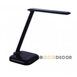 Led Επιτραπέζιο Φωτιστικό 6W Με Δυνατότητα Εναλλαγής Απόχρωσης Και Dimming ACA, Μαύρο