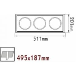 Κενή Κονσόλα Κρυφού Φωτισμού 3 Θέσεων Με Επιλογή Σποτ AR111 ACA