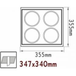 Κενή Κονσόλα Κρυφού Φωτισμού 4 Θέσεων Με Επιλογή Σποτ AR111 ACA