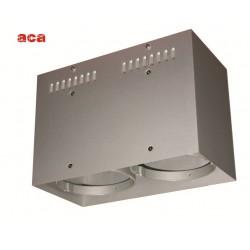 Κενή Κονσόλα Οροφής 2 Θέσεων Με Επιλογή Σποτ AR111 ACA