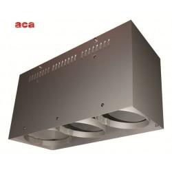 Κενή Κονσόλα Οροφής 3 Θέσεων Με Επιλογή Σποτ AR111 ACA