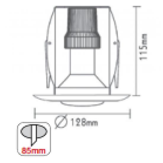 Χωνευτό Στρογγυλό Σπότ R63 Ε27 ACA