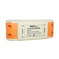 12W LED CV Mini Plastic Power Supply 24V DC - 230V AC IP20 ACA