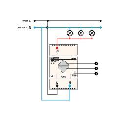 Dimmer Ράγας 230V 500W DM-500/b