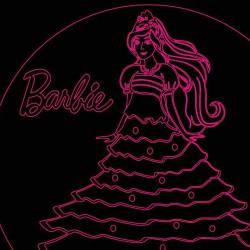 LED Φωτιστικό Χαραγμένο Plexiglass Με Σχέδιο Barbie Με Διακόπτη ON/OFF AlphaLed