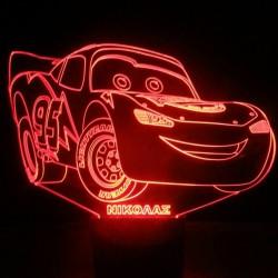 LED Φωτιστικό Χαραγμένο Plexiglass Με Σχέδιο Disney Cars Με Διακόπτη ON/OFF AlphaLed