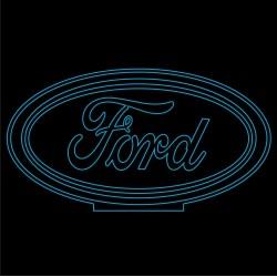 LED Φωτιστικό Χαραγμένο Plexiglass Με Σχέδιο Auto Ford Με Διακόπτη ON/OFF AlphaLed