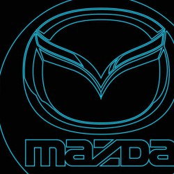 LED Φωτιστικό Χαραγμένο Plexiglass Με Σχέδιο Auto Mazda Με Διακόπτη ON/OFF AlphaLed