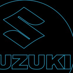 LED Φωτιστικό Χαραγμένο Plexiglass Με Σχέδιο Auto Suzuki Με Διακόπτη ON/OFF AlphaLed