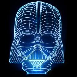 LED Φωτιστικό Χαραγμένο Plexiglass Με Σχέδιο Darth Vader Με Διακόπτη ON/OFF AlphaLed