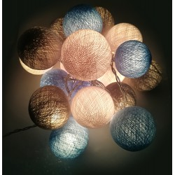 Ready Decorative Garland Beelights With Lights in Bluewave  Colors