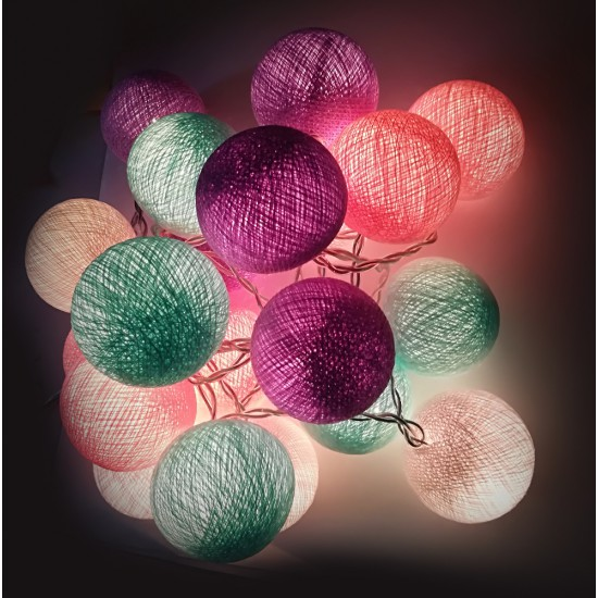 Ready Decorative Garland Beelights With Lights in Lavender  Colors