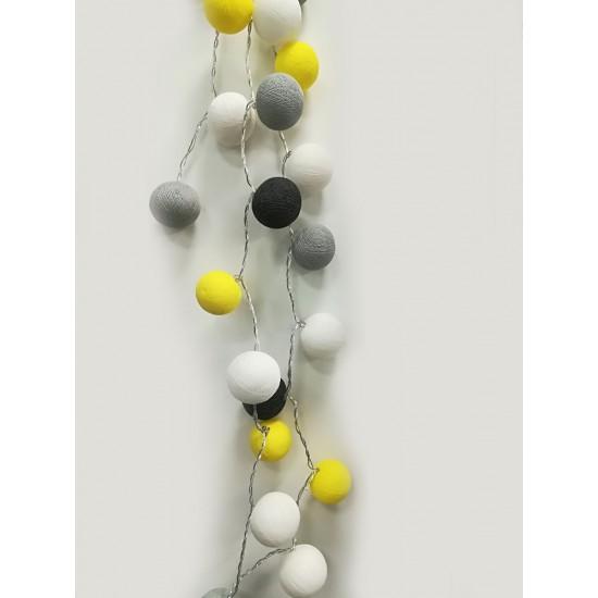 Έτοιμη Διακοσμητική Γιρλάντα Beelights Με Φωτάκια Σε Χρωματισμούς Lemonfresh