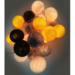 Ready Decorative Garland Beelights With Lights in Lemonfresh  Colors