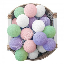 Έτοιμη Διακοσμητική Γιρλάντα Beelights Με Φωτάκια Σε Χρωματισμούς Lavender