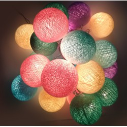 Ready Decorative Garland Beelights With Lights in Pastel Colors
