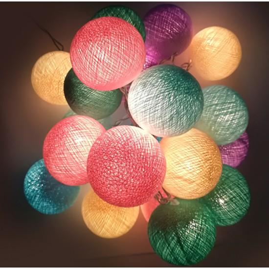 Έτοιμη Διακοσμητική Γιρλάντα Beelights Με Φωτάκια Σε Χρωματισμούς Pastel