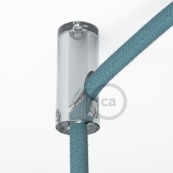 Bracket Cable Transparent with hook and stop for fabric cable