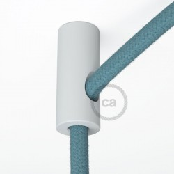 Bracket Cable White with hook and stop for fabric cable