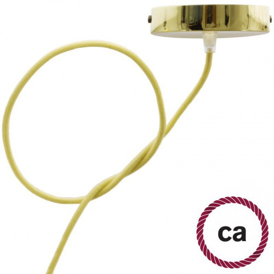 Round Cord Fabric Covered Cotton Pastel Yellow Creative Cables