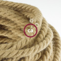 Rope Cable Φ16 - hairs XL, cable 3x0,75 covered with fabric and natural hair