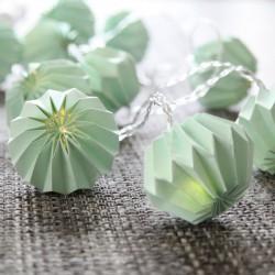 Διακοσμητικά Φωτάκια Origami LED 10τμχ Τιρκουάζ Λουλούδια Με Μπαταρία Θερμό Φως Decolight