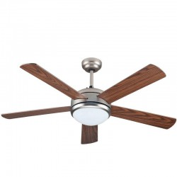Ceiling Fan 52'' 1Φ Antique Bronze With Remote Control Eurolamp
