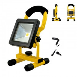 Projector RECHARGEABLE LED COB 10W Yellow IP65 4000K -Eurolamp