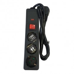 Multi Electrical Socket Hypertension With Safety 3 Socket And Cable 1,5m 3X1mm Eurolamp