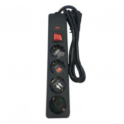 Multi Electrical Socket Hypertension With Safety 4 Socket And Cable 1,5m 3X1mm Eurolamp