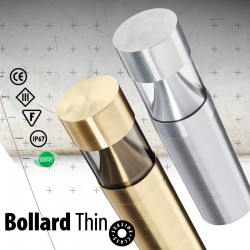 LED Bollard Exterior 13.8W Φ:75 Of Brass With Clear Glass IP67 Bollard Thin GALLIS