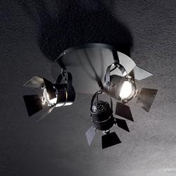 Φωτιστικό Σπότ Οροφής Τύπου Θεάτρου Με Πτερύγια 3xGU10 Μαύρο Σώμα CIAK IDEAL LUX